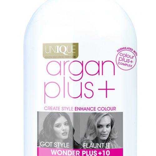 Argan Plus bottle with label